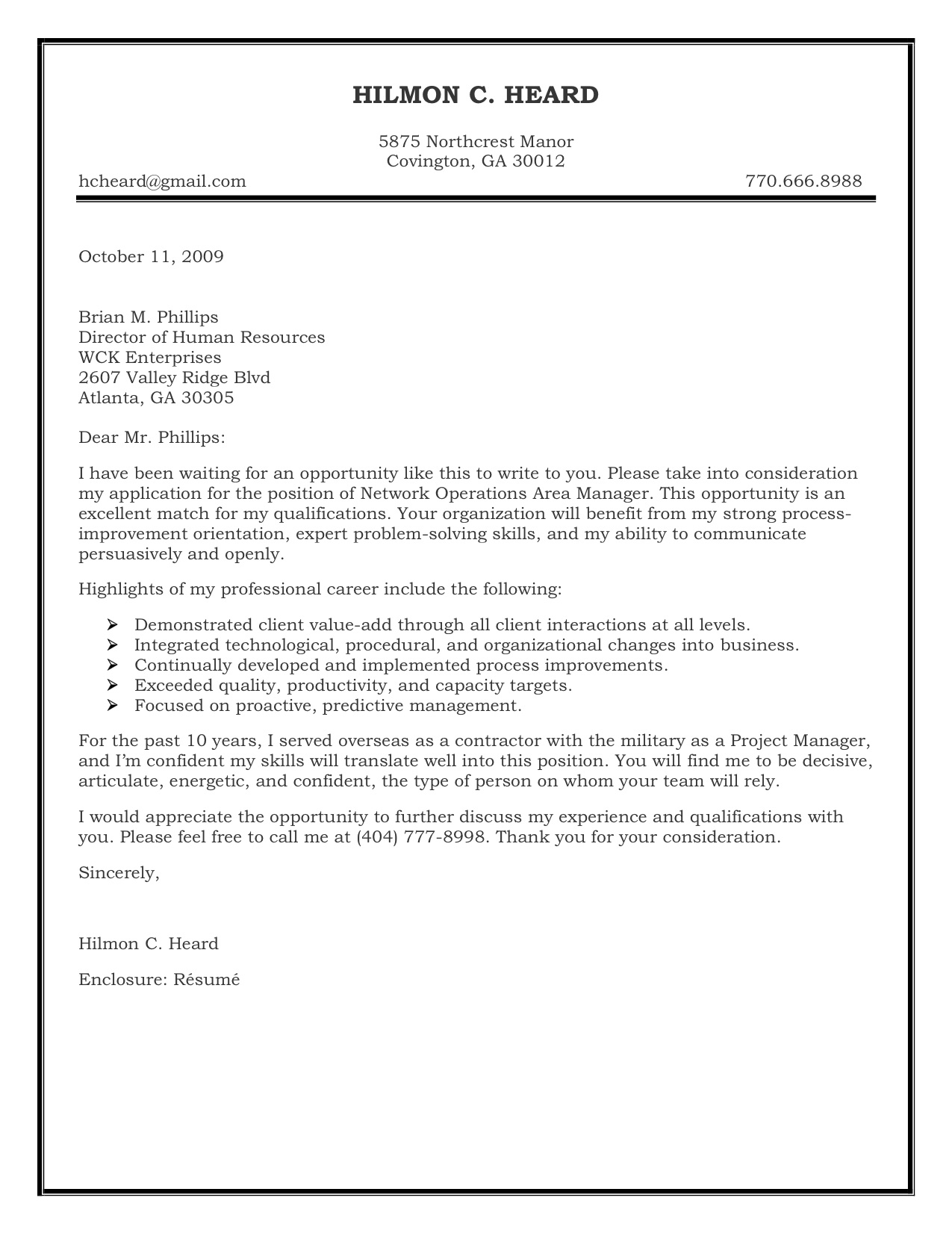 Cover Letter For Job Application Sample Cover Letter For